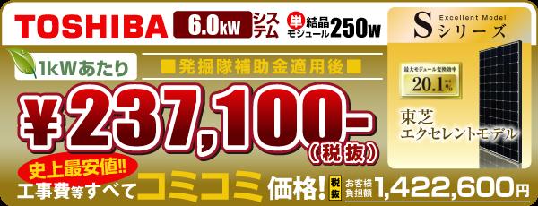 東芝250w 6.0kW