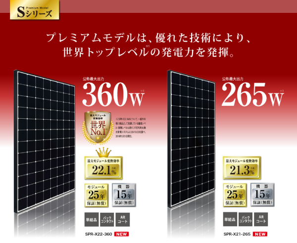 東芝Sシリーズ360W/265W